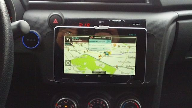 Tablet as car navigation